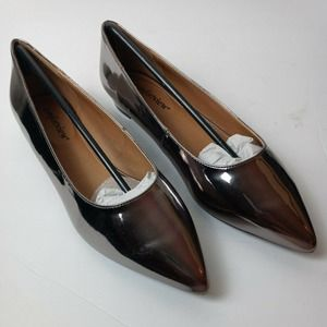 Comfortview 8.5M Olive pointed toe flats